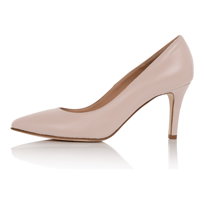 Nude pumps fair skin, low heel stiletto, nappa leather, padded insole, skin tone shoes