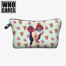Hipster girl Makeup Bag