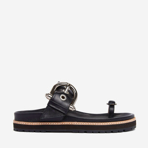 AMELINE BUCKLE FOOTBED SLIDE