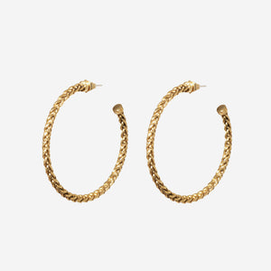 Braided Large Hoop Earrings - Etienne Aigner