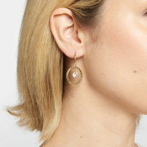 Sparkle Hoop Earrings - Etienne Aigner