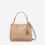 etienne aigner alexandra leather top-handle crossbody in hazelnut brown
