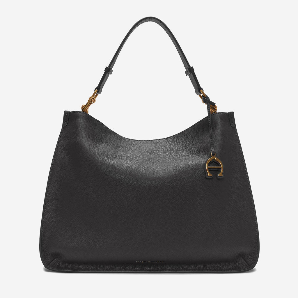 etienne aigner alexandra leather hobo in black