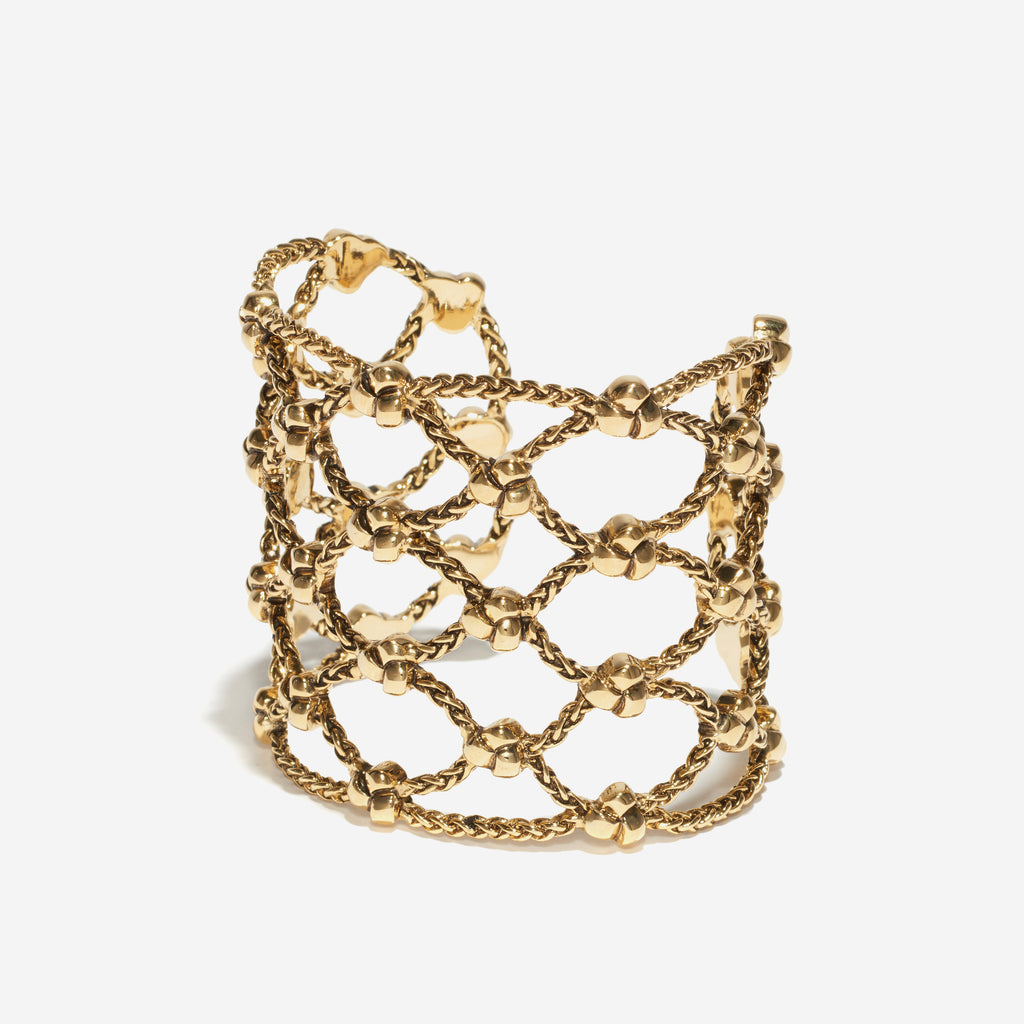 Knotted Lattice Cuff - Etienne Aigner