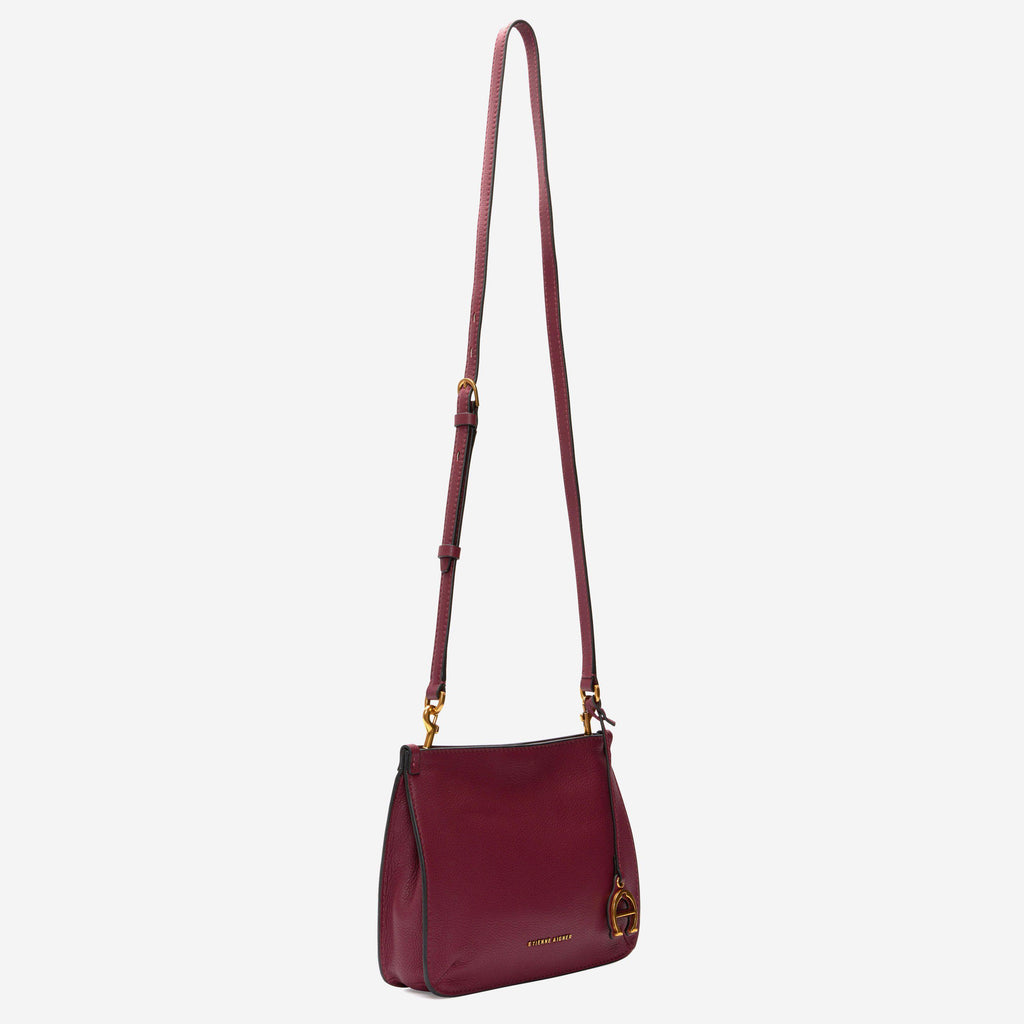 etienne aigner alexandra leather top-handle crossbody in cordovan red