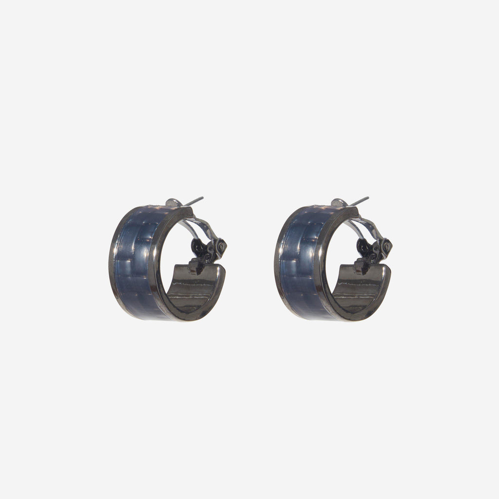 ENAMEL HOOP EARRINGS - Etienne Aigner