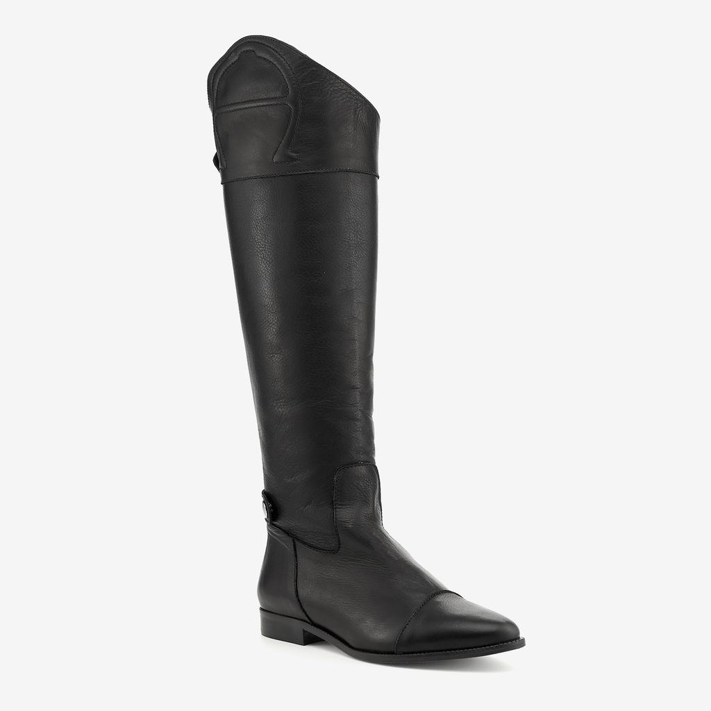 etienne aigner over the knee ryder leather equatrian boot in black