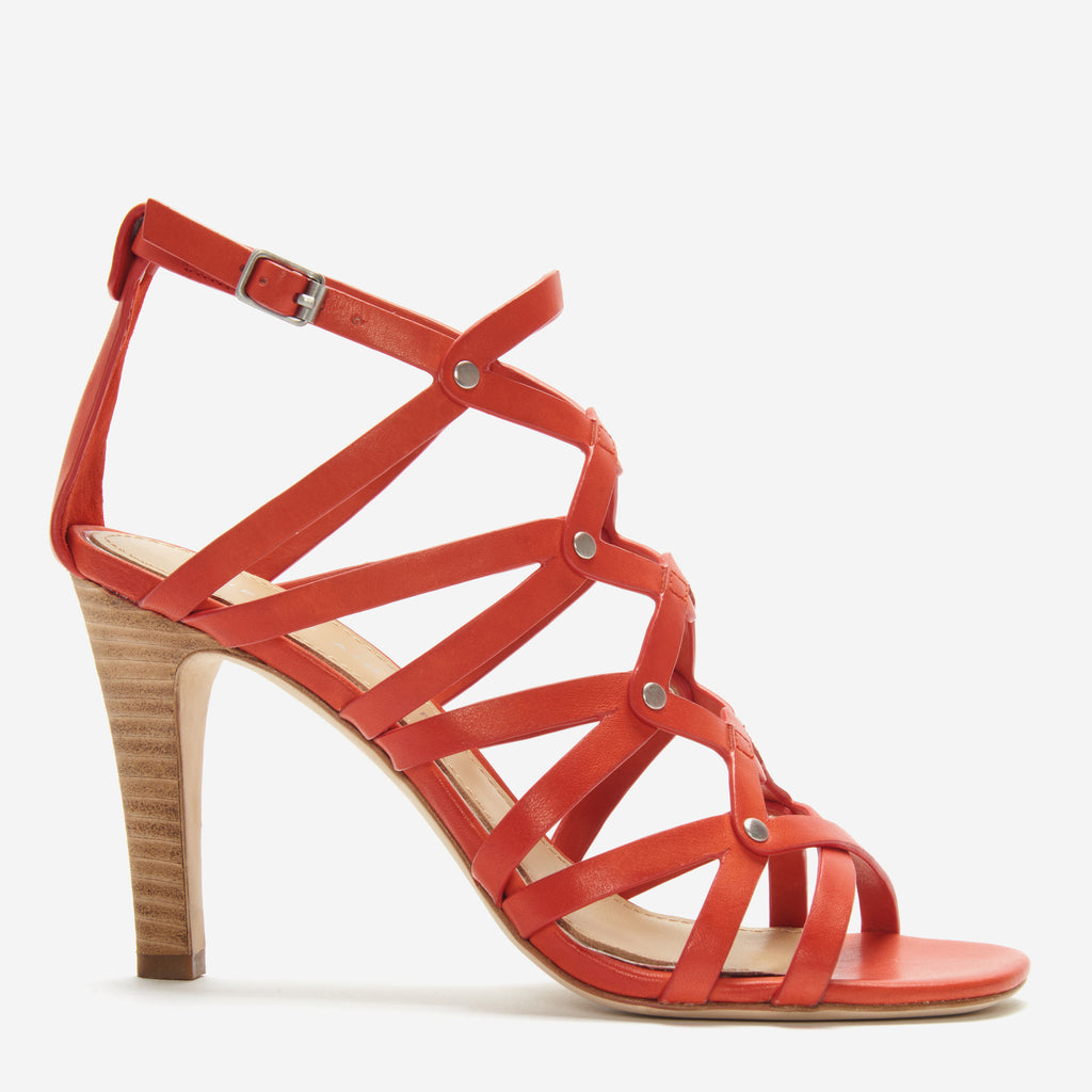etienne aigner marielle heel exotic orange side