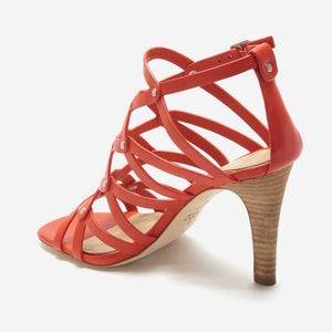 etienne aigner marielle heel exotic orange back angle