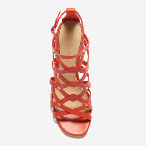 etienne aigner marielle heel exotic orange top