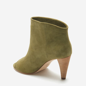 etienne aigner simone peep toe bootie moss back angle