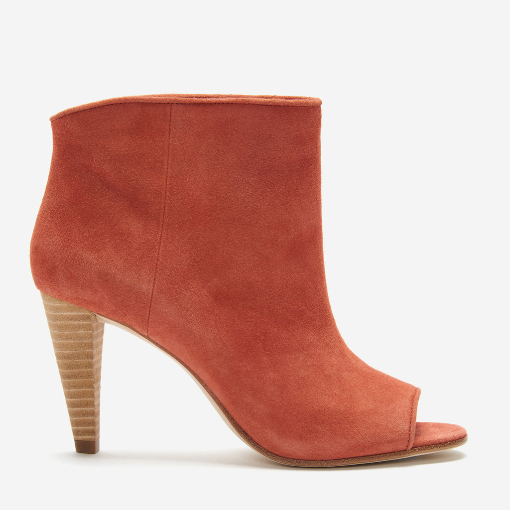 etienne aigner simone peep toe bootie potters clay side