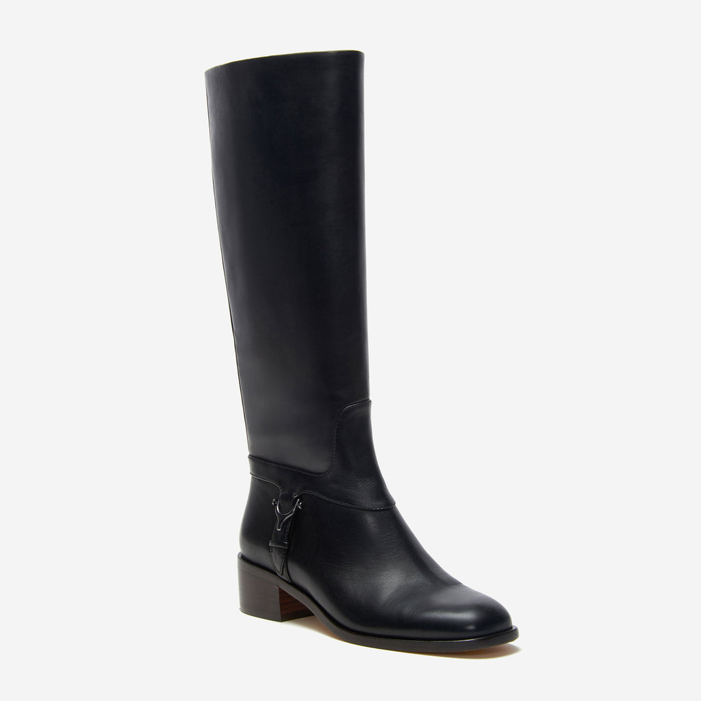 etienne aigner ryker riding boot in black