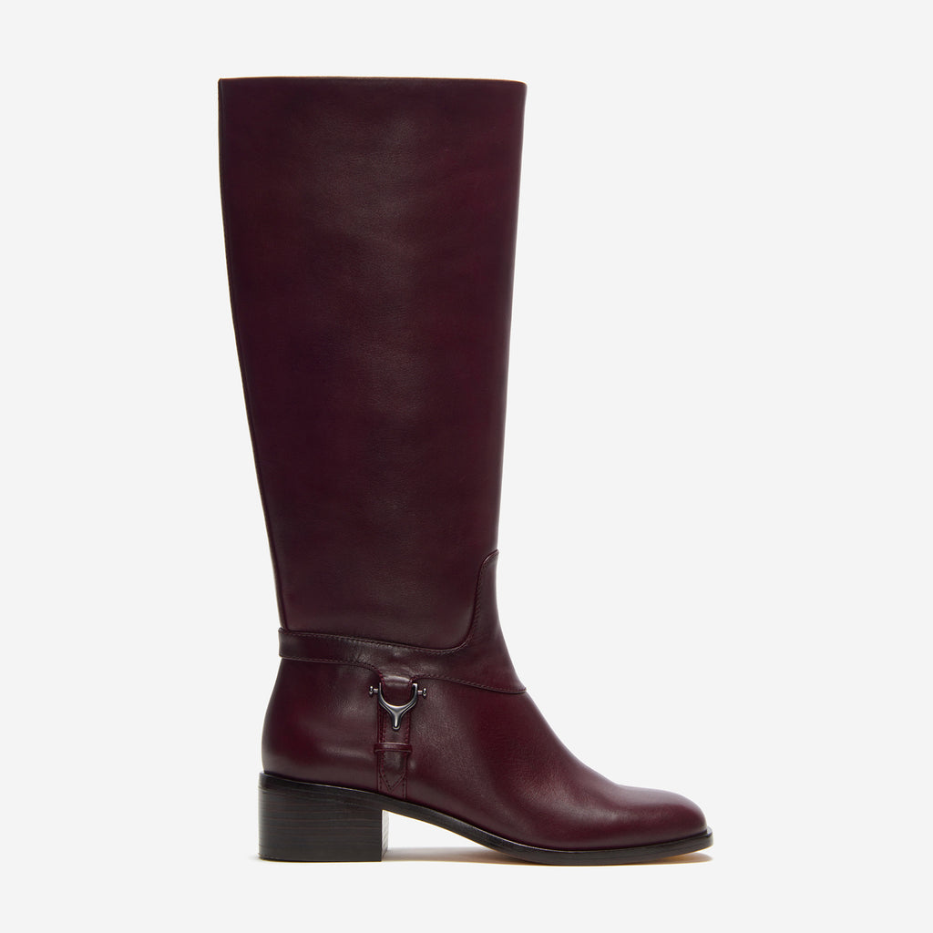 etienne aigner ryker boot polished cordovan side