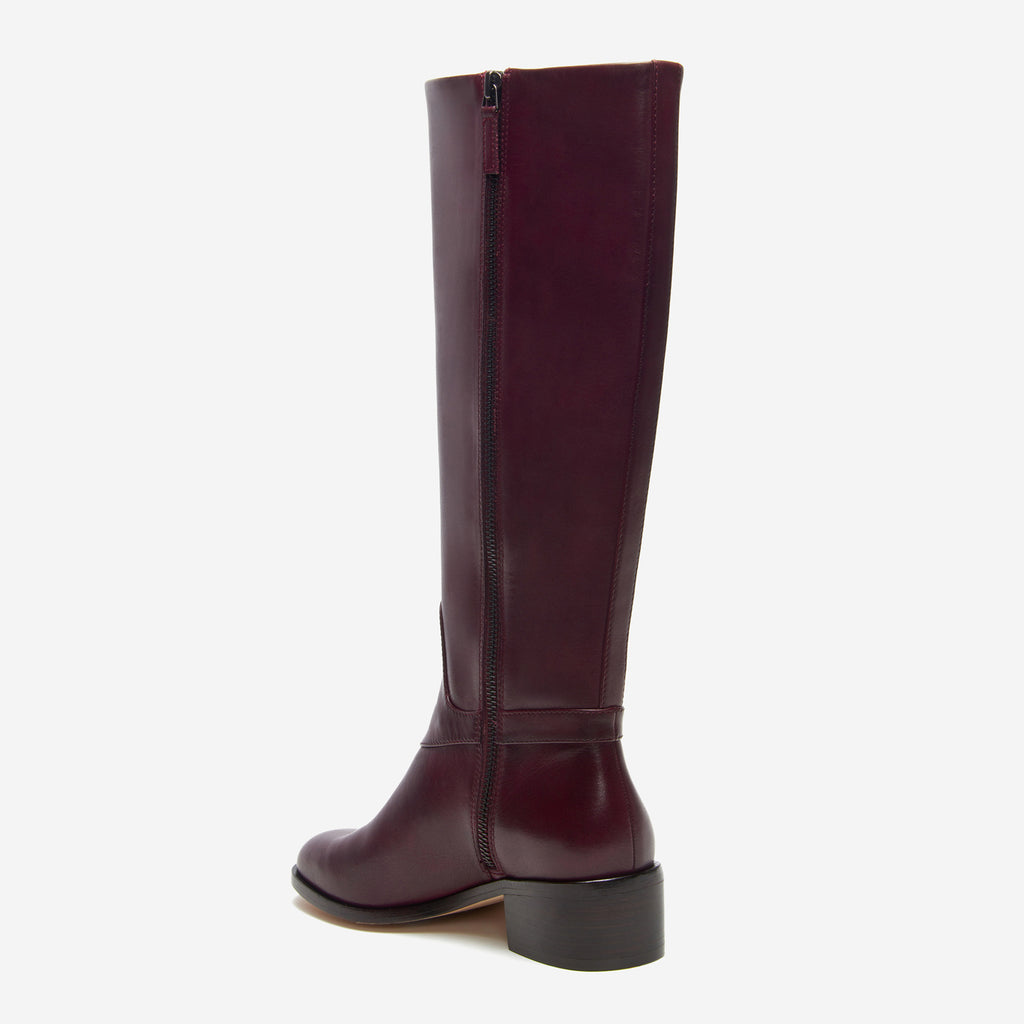 etienne aigner ryker boot polished cordovan back angle