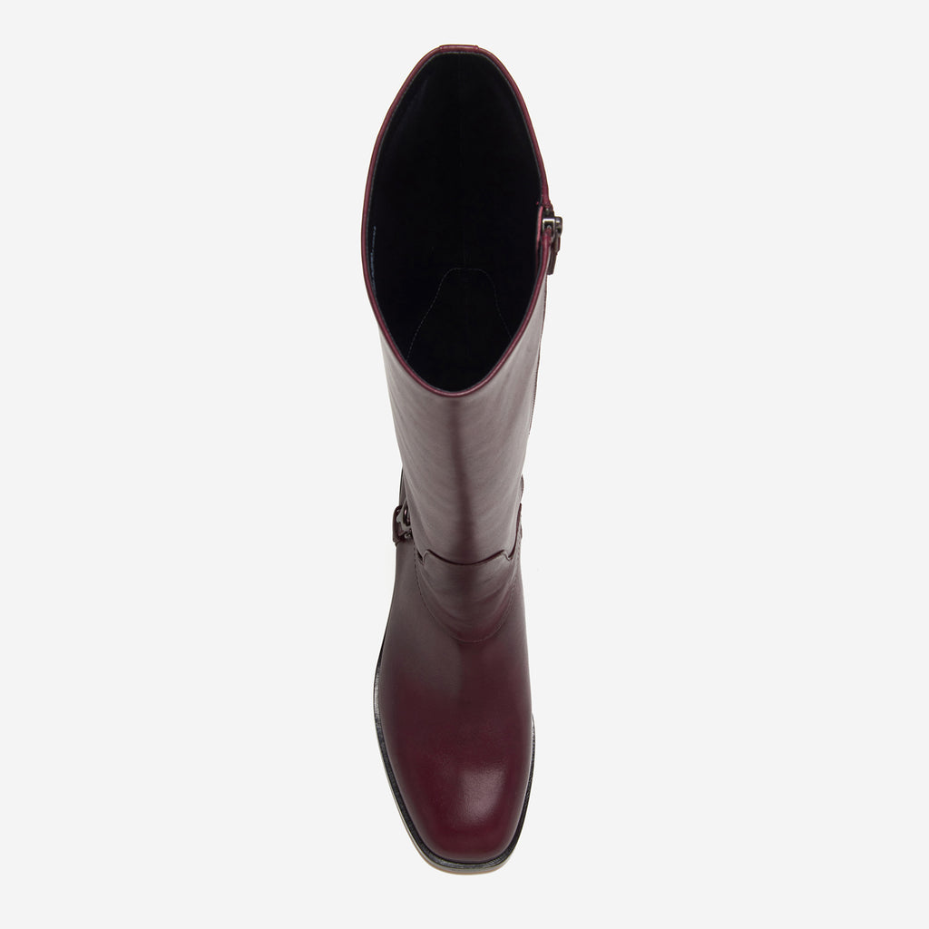 etienne aigner ryker boot polished cordovan top