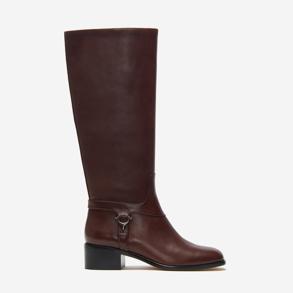 etienne aigner ryker boot dark brown side