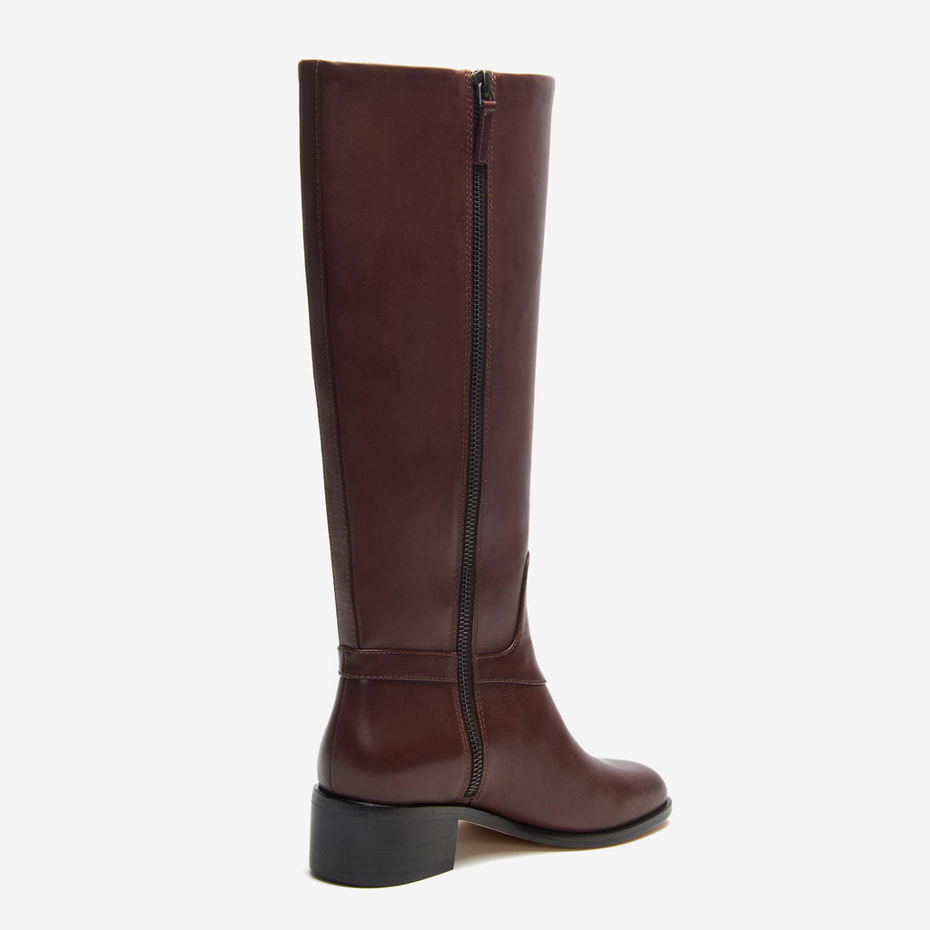 etienne aigner ryker boot dark brown back angle