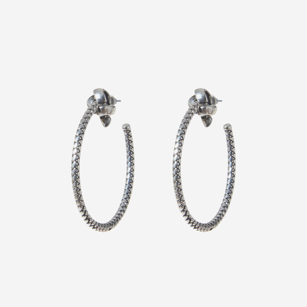 WOVEN HOOP EARRINGS - Etienne Aigner