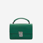 etienne aigner leah heritage clasp top handle crossbody in verdant green