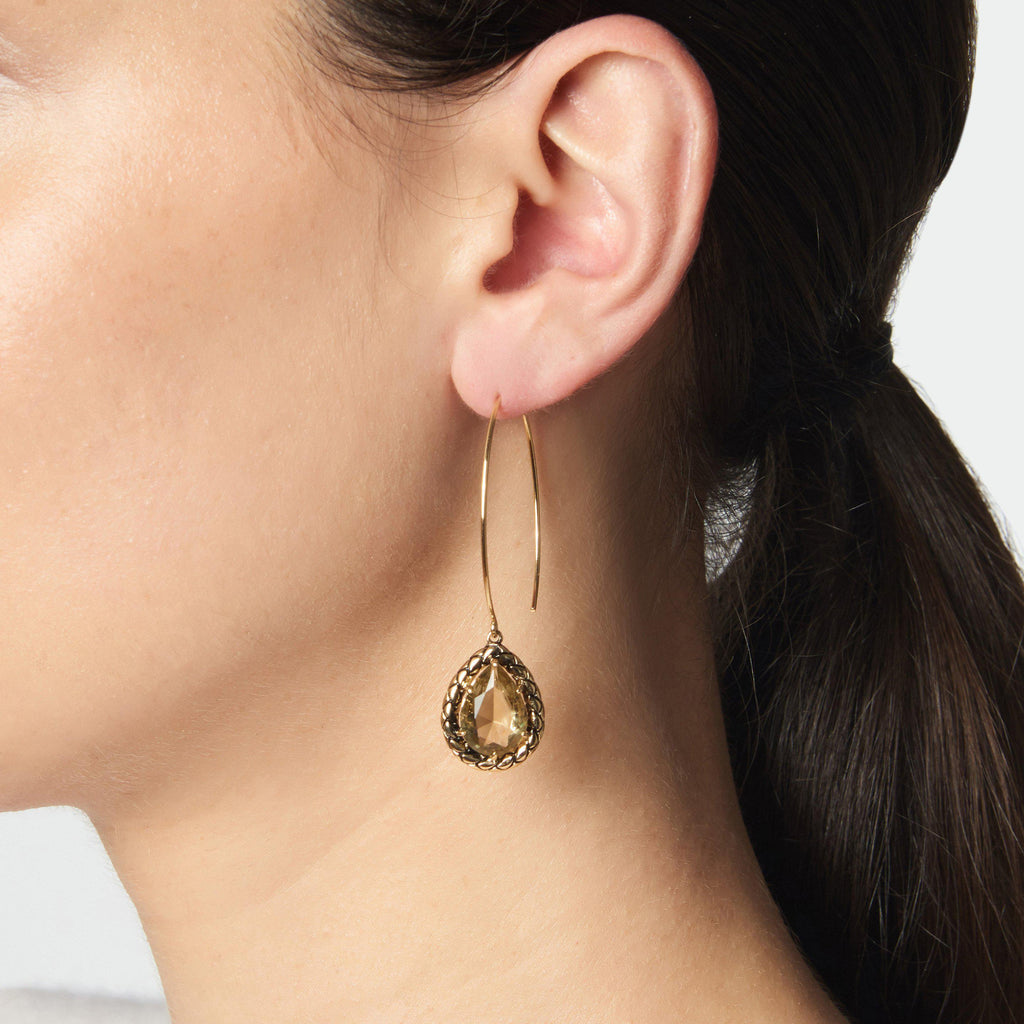 WOVEN THREADER EARRINGS