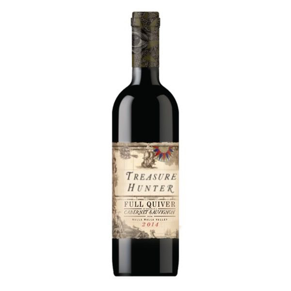 Treasure Hunter, Full Quiver, Cabernet Sauvignon, Wala Wall Valley WA 2014