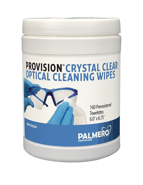 3534 : ProVision® Crystal Clear Optical Cleaning Wipes