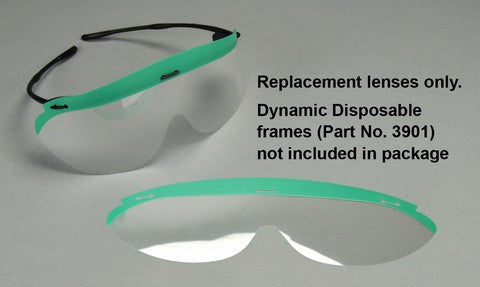 3902 & 3903 : Dynamic Disposables® Safety Eyewear Replacement Lens Clear
