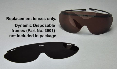 3905B : Dynamic Disposables® Safety Eyewear Replacement Lens Grey 100-Pack