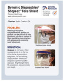 3920 :  Dynamic Disposables® Snapeez™ Half Face Shields, Office Pack