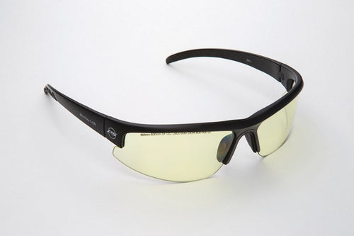 3590YG : Laser Eyewear Black Wrap Frames with Yellow/Green Lens