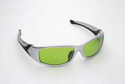 3588DA : Laser Eyewear Silver/Black Frames with Green Lens
