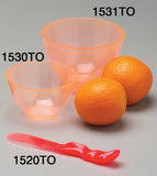 1532TOS : Candeez Scented Flexible Mixing Sets: Tangerine/Orange