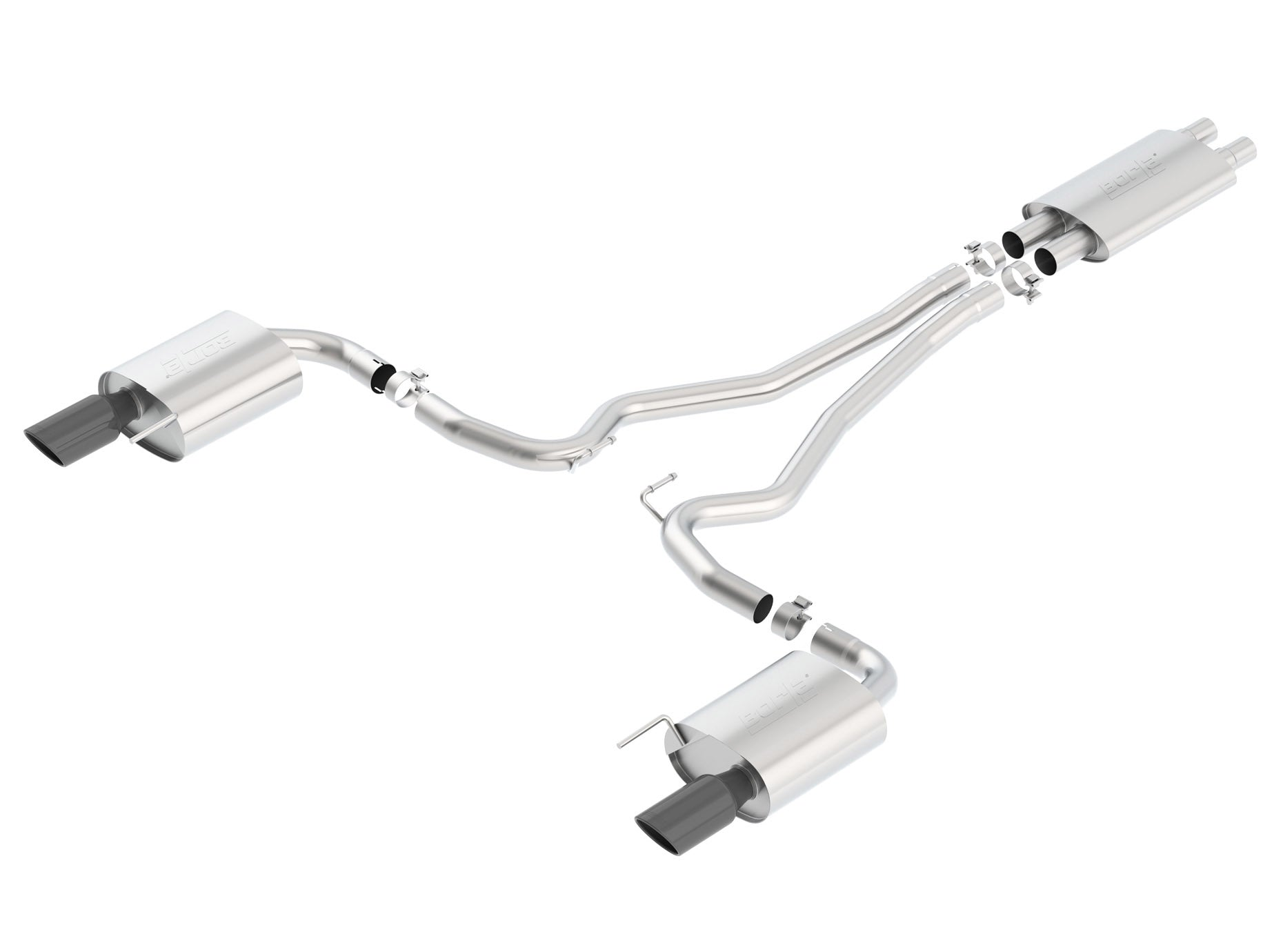 Borla Mustang GT 2015-2017 Cat-Back Exhaust Touring 140589BC