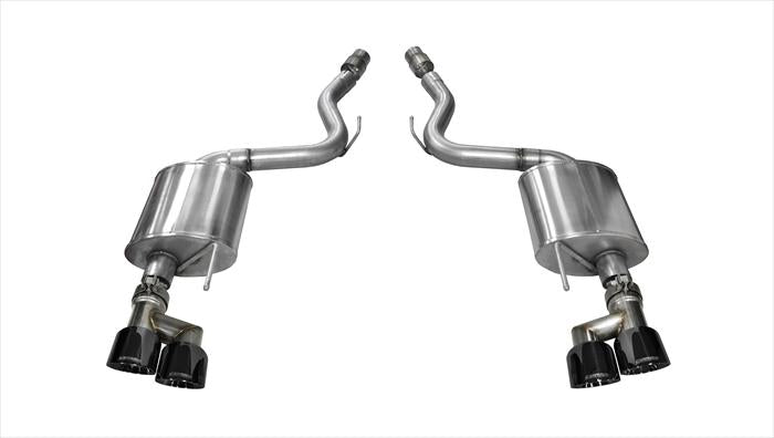 "Corsa 2015-2017 3.0"" Axle-Back Dual Rear Exit Twin 4.0"" Black Tips 14336BLK"