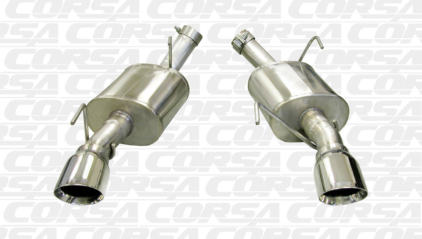 "Corsa 2005-2010 2.5"" Axle-Back Dual Rear Exit Single 4.0"" Polished Pro-Series 14314"
