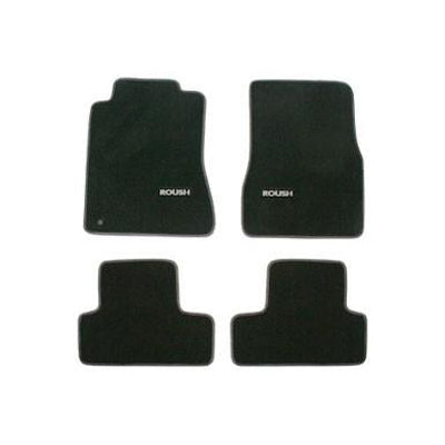 Roush Performance Mustang Floor Mats, Black And Grey (2005-2009) 401355