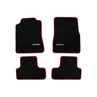 Roush Performance Mustang Floor Mats, Black With Red Edges (2005-2009) 401357
