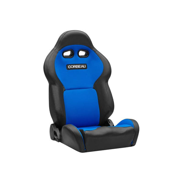 Corbeau VX2000 Racing Seat Black Vinyl/Blue Cloth - 20005