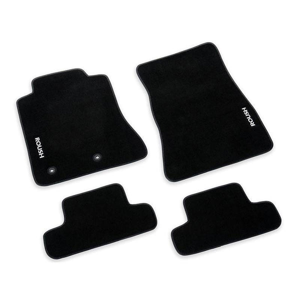 Roush Performance 2015-2018 Mustang Roush Embroidered Black Floor Mats 421904