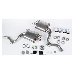 Roush Performance 2015-2017 Mustang 2.3L EcoBoost ROUSH Quad Tip (Active Ready) Exhaust Kit 421923
