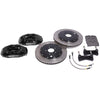 "StopTech Big Brake Kit, 4-piston calipers, 13"" or 14"" rotors, 1994-2004 Mustang, 14"" (355mm), Not Plated, Silver 83.328.4600-4700-14-NP-S"