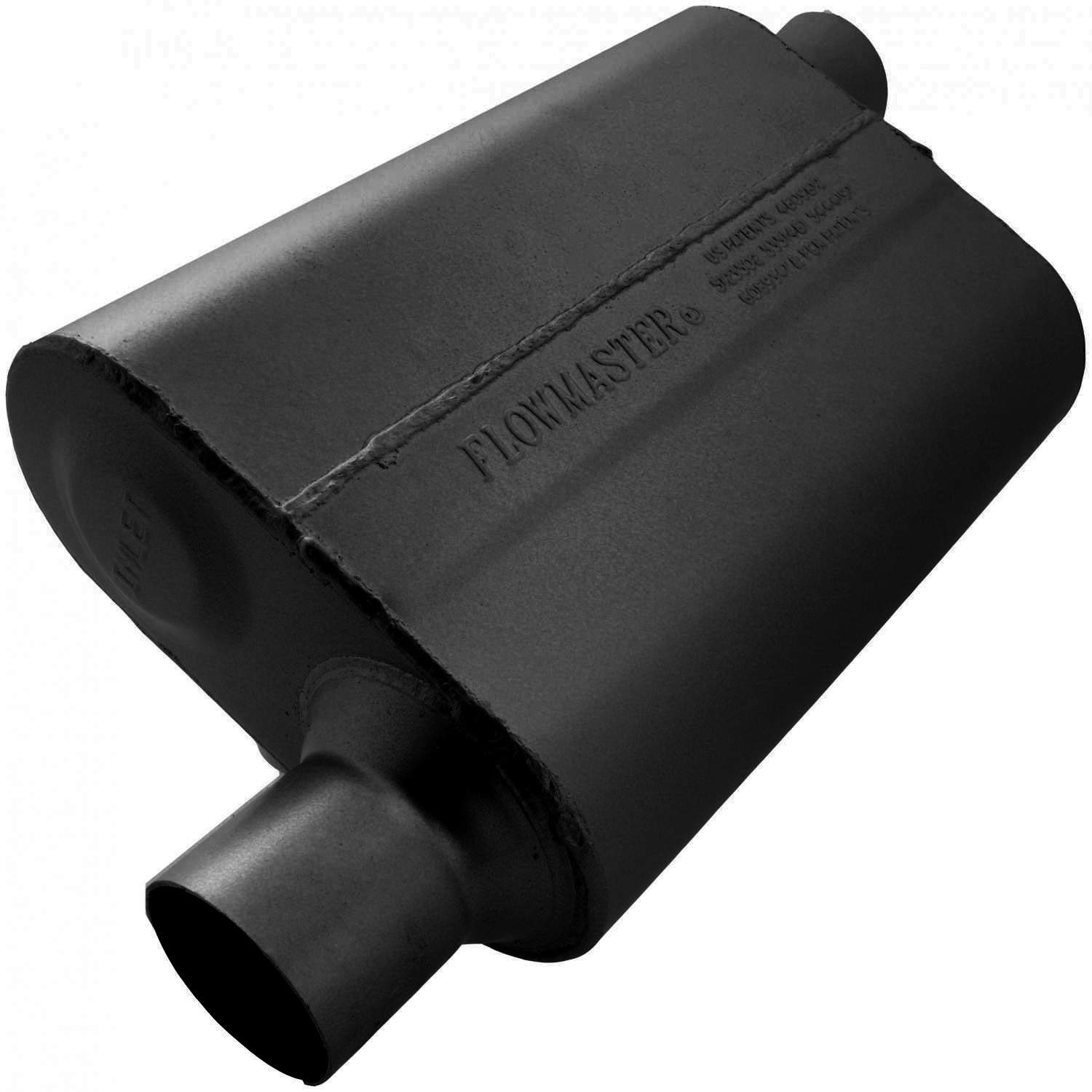Flowmaster 40 Delta Flow Muffler - 2.50 Offset In / 2.50 Offset Out - Aggressive Sound 942543