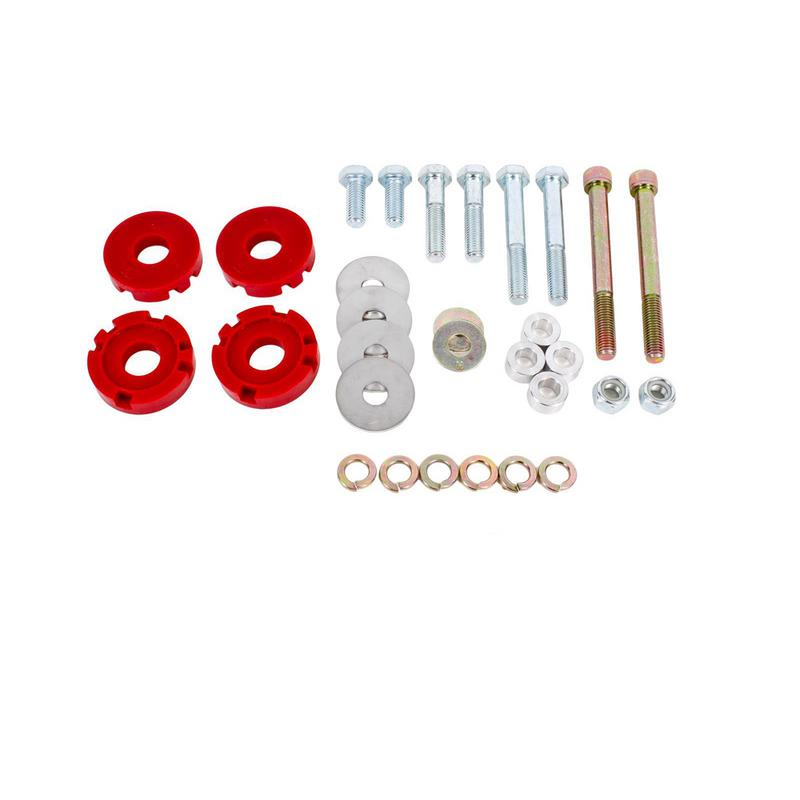 BMR Suspension Differential Bushing Lockout Kit, Polyurethane, Red