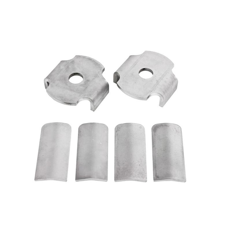 BMR Suspension Bushing Kit, Rear Cradle, Steel Inserts Only, Bare