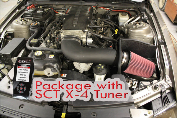 "JLT Performance Series 3 Intake/SCT X-4 Tuner (2005-09 Mustang GT), White Dry 4.5x9"" White DRY #SBAF459-D (R0268D-JLT) CAI3-FMG05-X4-WH-D"