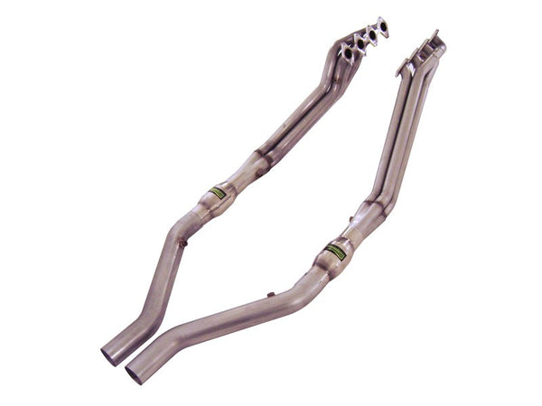 "Stainless Works Ford Mustang 2005-10 Headers: 1 3/4"" Catted Leads M05H175"