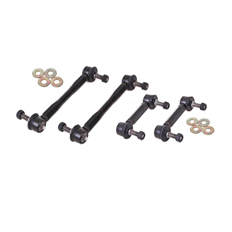 BMR Suspension End Link Kit For Sway Bars, Set Of 4,  Black Anodized