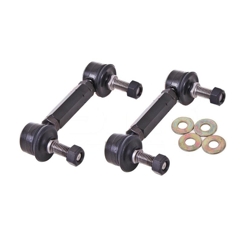 BMR Suspension End Link Kit For Sway Bars, Rear,  Black Anodized
