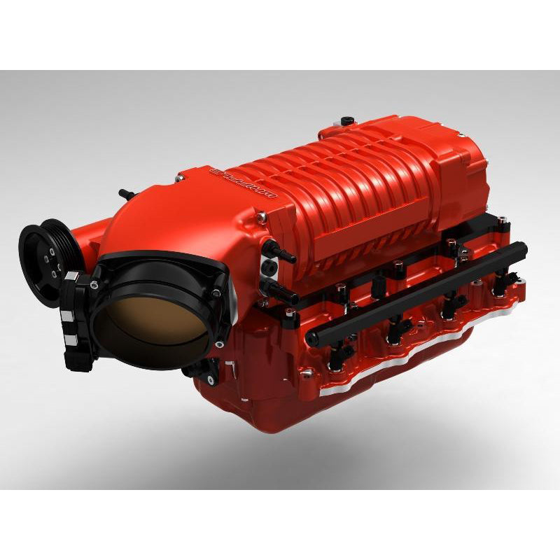 Whipple 2017 Gen 3 Upgrade Supercharger, Gloss Red (SC, Inlet) Discharge Ano Black